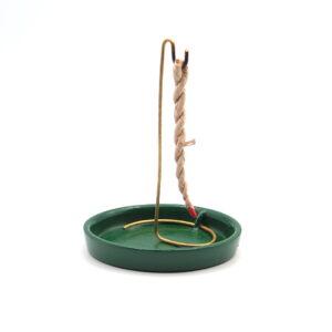 210.066 Incensario de Cerámica para Incienso Rope y Conos | PLATO VERDE