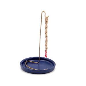 210.259 Incensario de Cerámica para Incienso Rope y Conos | PLATO AZUL